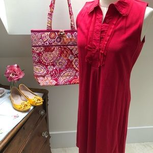 Cold water Creek NWOT red sleeveless dress